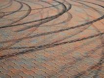 Quemaduras en la pavimentación Fotografía de archivo libre de regalías