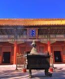 Queme un palillo de ídolo chino, Pekín fotos de archivo
