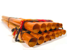 A Quena. Close-up of a Quena (musical instrument from Peru Stock Photos