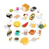 Quencher icons set, isometric style. Quencher icons set. Isometric set of 25 quencher vector icons for web isolated on white background Royalty Free Stock Images