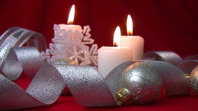 Quenching of Christmas candles (slow motion) Royalty Free Stock Images