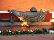 Quenchless flame in Alexandrovski garden - Moscow Royalty Free Stock Photos