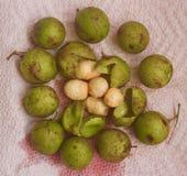 Quenepa. Closeup of Tropical Quenepa fruit Royalty Free Stock Photo