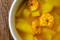 Quente e acidifique, camarão e papaia Fotos de Stock Royalty Free