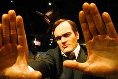 Quentin Tarantino i madamen Tussauds Hollywood arkivfoto