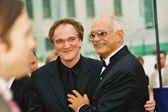 Quentin Tarantino and Nikita Mikhalkov. MOSCOW, RUSSIA - JUNE 18: Quentin Tarantino and Nikita Mikhalkov pose for photographers prior to the opening ceremony of Stock Images