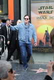 Quentin Tarantino. Receives a star on the Hollywood Walk of Fame Royalty Free Stock Photo
