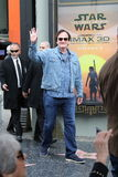 Quentin Tarantino. Receives a star on the Hollywood Walk of Fame Royalty Free Stock Image