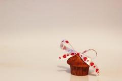 Queque bonito do Valentim Imagens de Stock