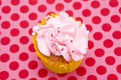 Queque cor-de-rosa Imagem de Stock Royalty Free