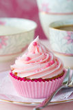 Queque cor-de-rosa Foto de Stock