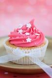 Queque cor-de-rosa Foto de Stock Royalty Free