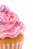 Queque cor-de-rosa Imagens de Stock Royalty Free