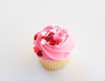 Queque cor-de-rosa da baunilha Fotos de Stock