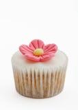 Queque cor-de-rosa da flor Foto de Stock Royalty Free