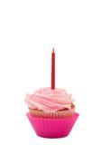 Queque da baunilha com crosta de gelo cor-de-rosa Fotografia de Stock Royalty Free
