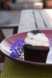 Queque da cookie do chocolate Imagens de Stock Royalty Free