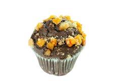 Queque da laranja do chocolate Imagens de Stock Royalty Free