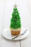 Queque da árvore de Natal Fotografia de Stock Royalty Free