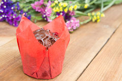 Queque delicioso do chocolate Fotografia de Stock Royalty Free
