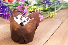 Queque delicioso do chocolate Imagens de Stock Royalty Free