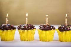 Queque do aniversário Fotos de Stock Royalty Free