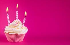 Queque do aniversário Imagem de Stock Royalty Free