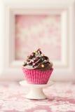 Queque do chocolate fotografia de stock royalty free