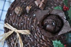 Queque do chocolate foto de stock