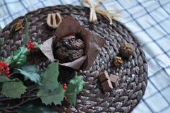 Queque do chocolate fotografia de stock