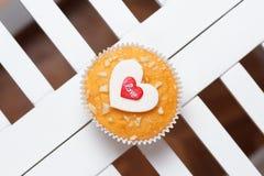 Queque do dia de Valentim Imagem de Stock