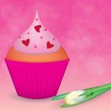 Queque do dia do Valentim Imagens de Stock