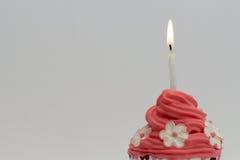 Queque do dia dos valentinecor-de-rosa Foto de Stock