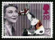Queque o selo postal do Reino Unido da mula Foto de Stock Royalty Free