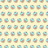 Queque - teste padrão 52 do emoji ilustração do vetor