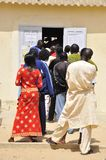 Queque for voting Senegal Stock Images