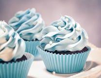 Queques azuis foto de stock royalty free
