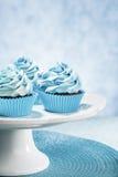 Queques azuis Fotos de Stock Royalty Free