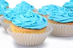 Queques azuis imagens de stock royalty free