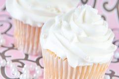 Queques brancos delicados Foto de Stock Royalty Free