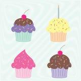 Queques coloridos Imagens de Stock Royalty Free