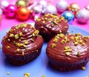 Queques com chocolate Foto de Stock Royalty Free