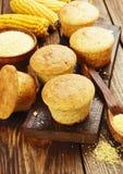 Queques com farinha de milho foto de stock