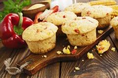 Queques com milho e paprika Imagens de Stock