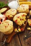 Queques com milho e paprika Fotografia de Stock