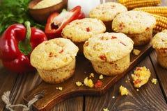 Queques com milho e paprika Imagens de Stock Royalty Free