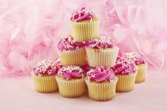 Queques cor-de-rosa Foto de Stock Royalty Free