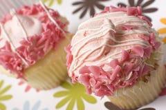Queques cor-de-rosa Fotografia de Stock