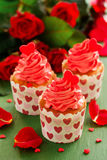 Queques cor-de-rosa Imagem de Stock Royalty Free
