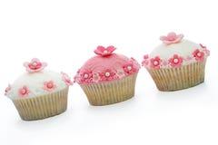 Queques cor-de-rosa e brancos Imagem de Stock Royalty Free
